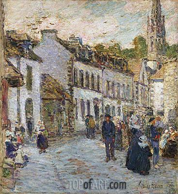 Hassam | Street in Pont Aven - Evening, 1897