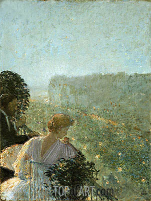 Summer Evening, Paris, undated | Hassam| Painting Reproduction