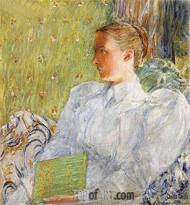 Portrait of Edith Blaney, 1894 | Hassam| Painting Reproduction