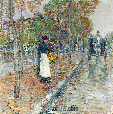 Autumn Boulevard, undated | Hassam| Painting Reproduction