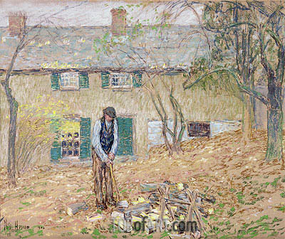 Woodchopper, 1902 | Hassam | Painting Reproduction