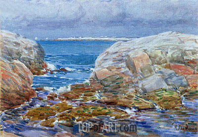 Duck Island, Isles of Shoals, 1906 | Hassam| Painting Reproduction