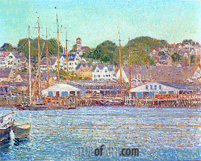 Gloucester Harbour, 1917 | Hassam | Painting Reproduction