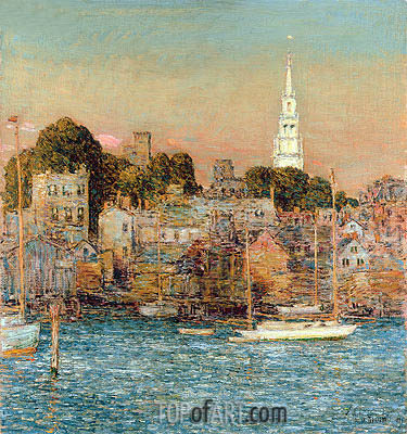 October Sundown, Newport, 1901 | Hassam| Painting Reproduction