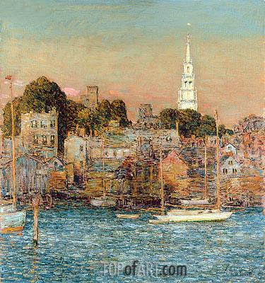 October Sundown, Newport, 1901 | Hassam | Painting Reproduction