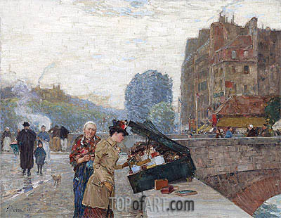 Quai St. Michel, 1888 | Hassam | Painting Reproduction