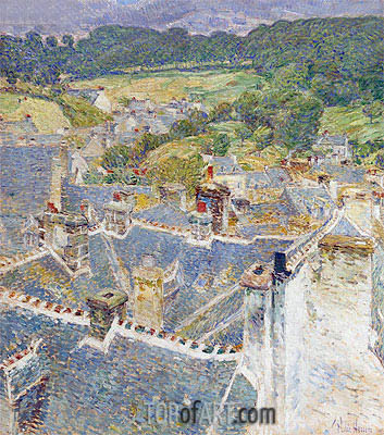 Hassam | Rooftops, Pont-Aven, Brittany, 1897