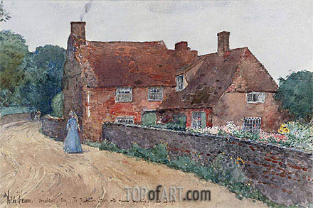 Broadstairs Cottage, 1890 | Hassam | Painting Reproduction