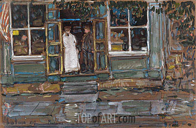 Grocery Store, Phoenecia, 1917 | Hassam| Painting Reproduction