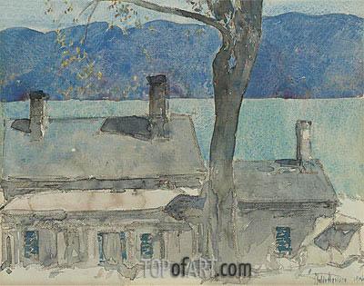 Hassam | Old House, Newburgh, New York, 1916