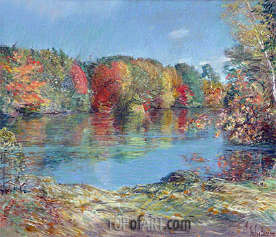 Walden Pond, undated | Hassam | Painting Reproduction