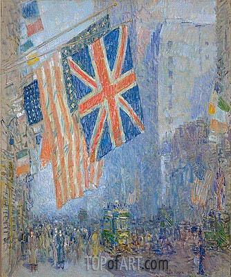 Hassam | The Union Jack, New York, April Morning, 1918