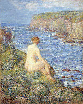 Nymph and Sea, 1900 | Hassam | Gemälde Reproduktion