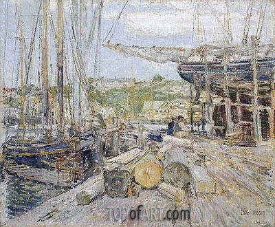 Hassam | Docks, Gloucester, 1895