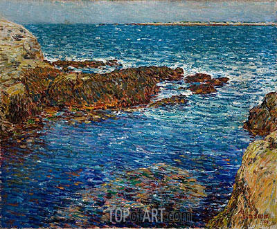Hassam | Entrance to the Siren's Grotto, Isle of Shoals, 1902