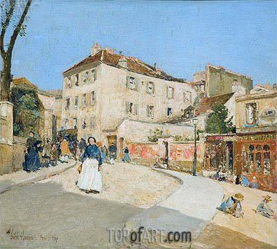 Hassam | Montmartre, 1889