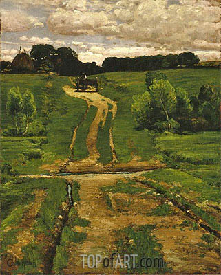 A Back Road, 1884 | Hassam | Painting Reproduction