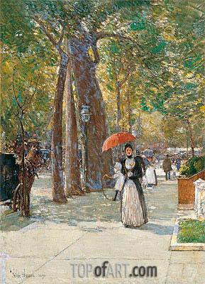 Hassam | Fifth Avenue at Washington Square, New York, 1891