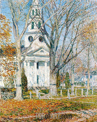 Church at Old Lyme, 1903 | Hassam | Painting Reproduction