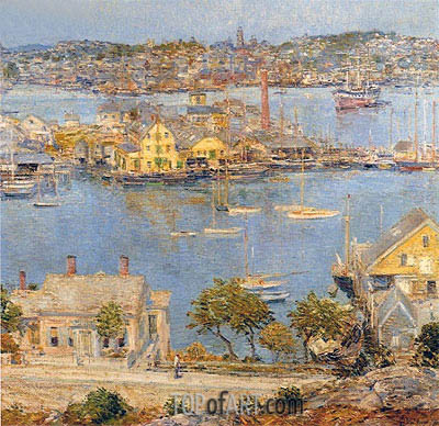 Gloucester Harbor, 1899 | Hassam| Painting Reproduction