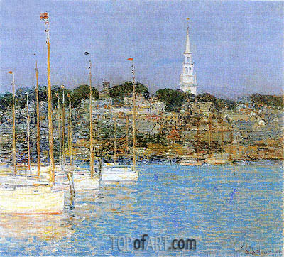 Cat Boats, Newport, 1901 | Hassam | Painting Reproduction