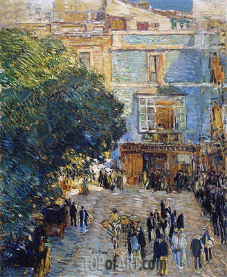 Hassam | Square at Sevilla, 1910