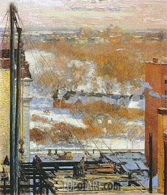 The Hovel and the Skyscraper, 1904 | Hassam | Painting Reproduction