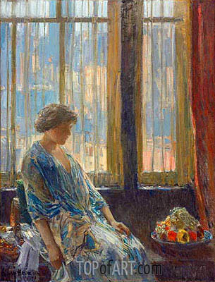 The New York Window, 1912 | Hassam| Painting Reproduction