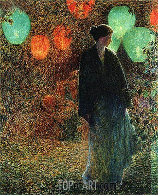 July Night, 1898 | Hassam | Painting Reproduction