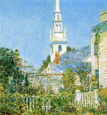 Hassam | White Church at Newport, 1901