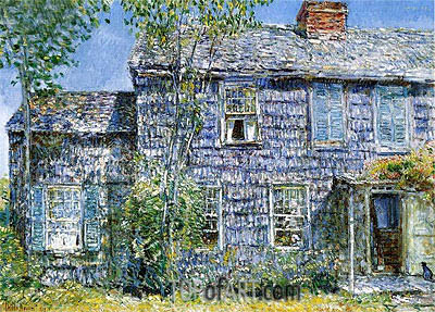 East Hampton (Old Mumford House), 1919 | Hassam | Painting Reproduction