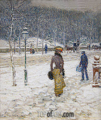 New York Street, 1902 | Hassam | Painting Reproduction