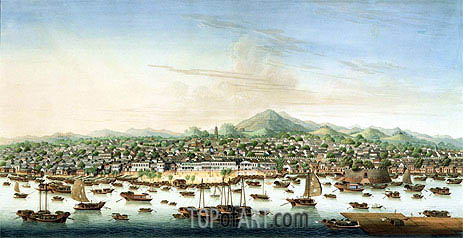 View of Canton, c.1800 | Chinese School| Painting Reproduction