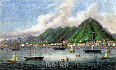 Victoria Island, Hong Kong, c.1865 | Chinese School | Painting Reproduction