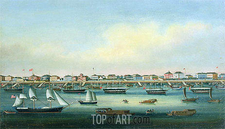 The Bund, Shanghai, undated | Chinese School| Painting Reproduction
