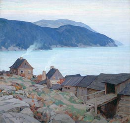 Evening on the North Shore | Clarence Gagnon | Painting Reproduction