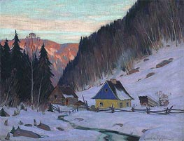 A Laurentian Homestead | Clarence Gagnon | Painting Reproduction