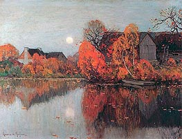The Pond, October, c.1921 von Clarence Gagnon | Gemälde-Reproduktion
