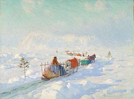 The Ice Bridge, Quebec, undated by Clarence Gagnon | Painting Reproduction