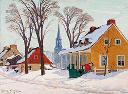 Winter Morning in Baie-Saint-Paul | Clarence Gagnon | outdated