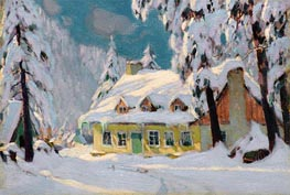 After the Storm, c.1922 by Clarence Gagnon | Painting Reproduction
