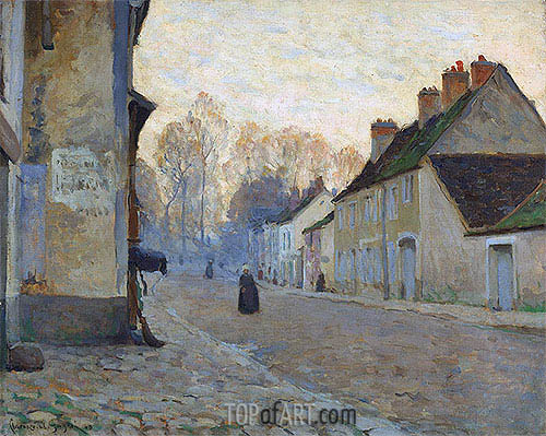 Rue du Canal, Moret-sur-Loing, 1908 | Clarence Gagnon | Painting Reproduction