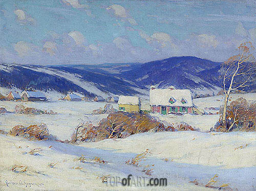 In the Laurentians, Winter, 1910 | Clarence Gagnon | Gemälde Reproduktion