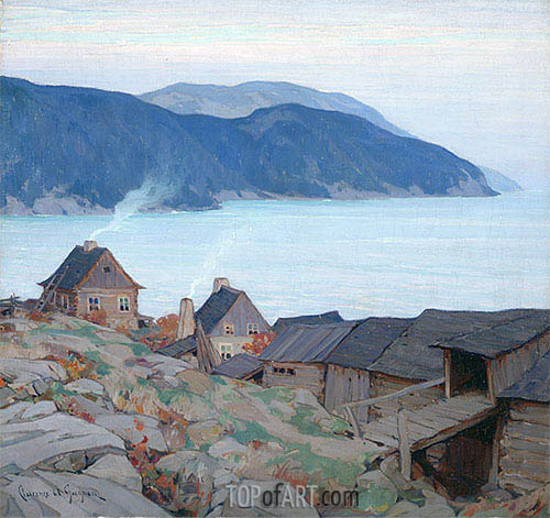 Evening on the North Shore, 1924 | Clarence Gagnon | Painting Reproduction