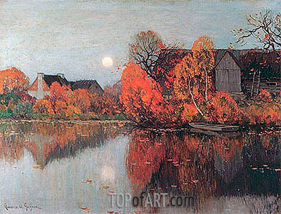 Clarence Gagnon | The Pond, October, c.1921
