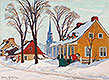 Winter Morning in Baie-Saint-Paul | Clarence Gagnon