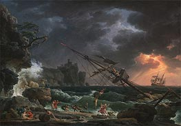 The Shipwreck, 1772 by Claude-Joseph Vernet | Painting Reproduction