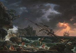 The Shipwreck, 1772 von Claude-Joseph Vernet | Gemälde-Reproduktion