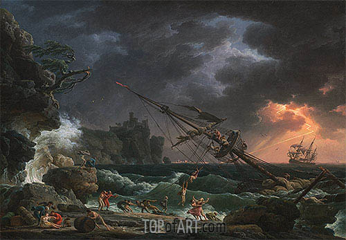 The Shipwreck, 1772 | Claude-Joseph Vernet| Painting Reproduction