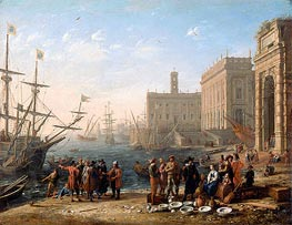 View of a Port with the Capitol, c.1636 by Claude Lorrain | Painting Reproduction